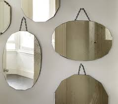 Mirror grouping on wall Silver Wall Decorative Plates Hanging Vintage Mirror Framless Wall Hanging