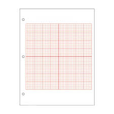 Axis Graph Paper Accentuated Axis Full Page Grid