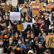 Check spelling or type a new query. Australian Black Lives Matter Protests Tens Of Thousands Demand End To Indigenous Deaths In Custody Indigenous Australians The Guardian