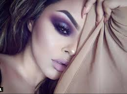 purple smokey eyes look incredibly y on brown eyes