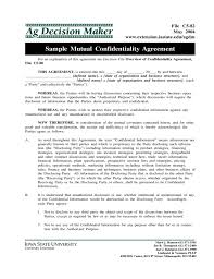 Business Confidentiality Agreement Sample Fascinating Sample Mutual Confidentiality Agreement Free Download
