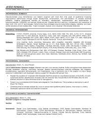 linux administrator resume samples