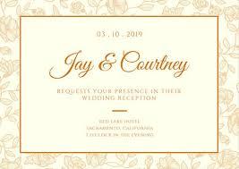 wedding reception card wedding reception invites customize 586 wedding reception card