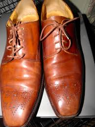 the shoes after applying the cleaner and conditioner check out the leather honey