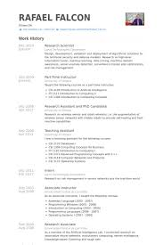 Research Scientist Resume samples