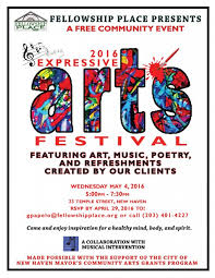 Art Event Flyer Expressive Arts Festival May 4 2016 Fellowship Place