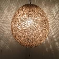 mid century modern lucite spaghetti swag lamp