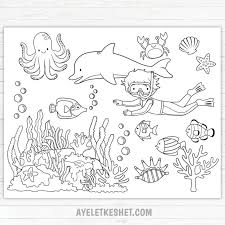 These are perfect as we jump into summer. Under The Sea Coloring Pages Free Printables Ayelet Keshet Ocean Coloring Pages Free Coloring Pages Abstract Coloring Pages