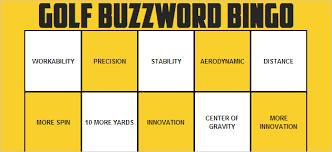 buzzword bingo generator golf equipment buzzword bingo