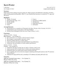 Sample Acting Resume Best ActorActress Resume Examples Free To Try Today MyPerfectResume