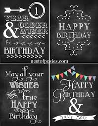 happy birthday chalkboard printables via nest of posies
