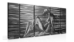 >metal wall art abstract modern sculpture painting handmade 5 panle  metal wall art abstract modern sculpture painting handmade 5 panle in one set hb60140132 metal painting online with 203 54 set on hogo s store dhgate