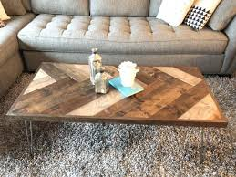 You could modify the plans to build a size of coffee table that suits your space. Diy Herringbone Coffee Table Plans Etsy