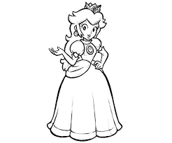 Small Picture Printable Princess Peach Coloring Pages Coloring Me