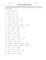 balancing equations worksheet template accounting equation chemical