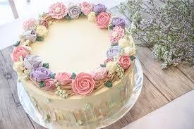 Simple Flower Birthday Cake Delicious Cake Recipe