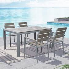 5 piece outdoor dining set. Shop CorLiving Gallant Sun Bleached Grey 5-piece Outdoor Dining Set - Free Shipping Today Overstock.com 11454710 5 Piece