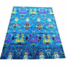 fancy sari silk carpet