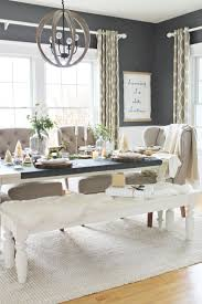 holiday dining room plaid runner eucalyptus log slices ikat ds west elm
