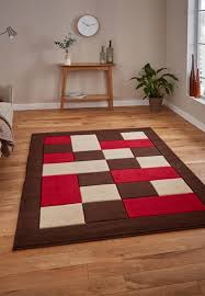 matrix mt04 rugs in brown red