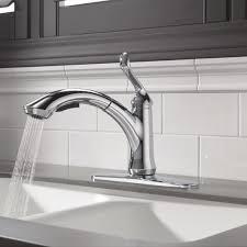 Delta Pull Out Kitchen Faucet Delta Linden Single Handle Centerset Pull Out Bar Kitchen Faucet