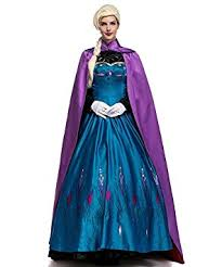 NonEcho Ladies <b>Snow Queen</b> Dress Cloak <b>Adult</b> Cosplay Party ...