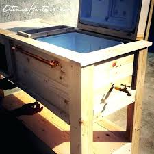 cooler cart patio cooler cart and bar is almost complete now i get to come in cooler cart