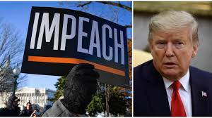Image result for trump impeached by US house