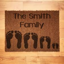 personalised footprints doormat rugs doormats