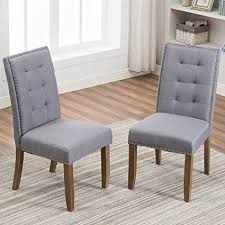 merax pp036192eaa set of 2 stylish tufted upholstered fabric dining chairs with nailhead detail and solid