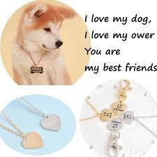 spring best friend dog necklace engraved bone pendant love dog tag necklace pet tag keychain