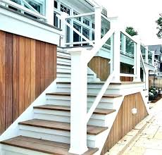 stair railing ideas outside stairs for house porch nice wood handrails rustic outdoor