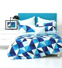 geometric comforter bold blue navy and white triangle print bedding for a seaside space grey set