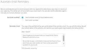 Email Reminder Send Reminder Emails To Participants Of All Events