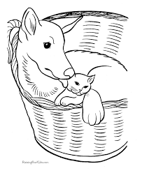 Small Picture Kitten Coloring Pages To Print Coloring Coloring Pages