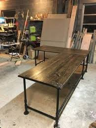 homemade office desk. Unique Office Industrial Pipe LShaped Desk By AlexsWoodWorks On Etsy Inside Homemade Office