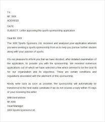 Event Sponsorship Letter Example Custom Athletic Sponsorship Letter Template Gdyinglun