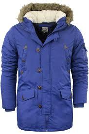 brave soul mens heavy weight fur hood parka padded winter coat jacket