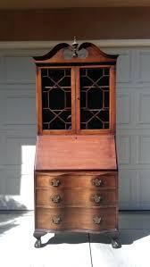 vintage secretary desk with hutch desks and 1