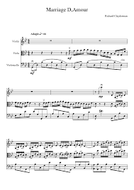 Marriage D Amour Musescore