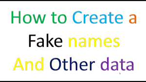 how to generate fake user name address email ssn credit card details etc educational