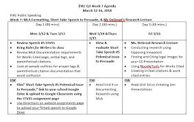 Firc Speech Q3 Week 7 Persuasive Short Take Mla Documentation