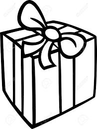 クリスマスや誕生日プレゼントやギフト オブジェクトの黒と白の漫画イラスト クリップ アート塗り絵の