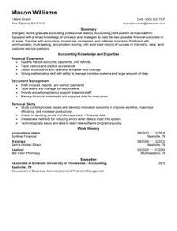 accountant job resume