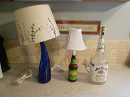 Glass Bottle Lamps How To Make A Lamp With A Liquor Bottle For The Man Cave