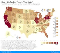 Gas Price Breakdown Chart Gas Tax Rates 2019 State Fuel Excise Taxes Tax Foundation
