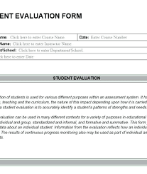 Self Assessment Templates Student Self Assessment Form For Reading ...