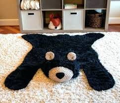 bear rug fake nursery faux black l woodland baby room decor animal fur skin polar bear rug fake faux
