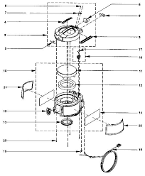 rexair rainbow e2 1 speed repair parts diagrams switch actuator on off r7330