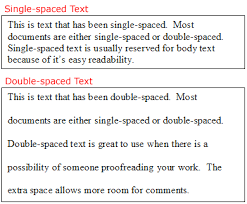 Double Line Spacing. format a professional resume
